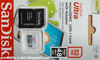 Karta Micro SD SanDisk Ultra 32 GB z Biedronki