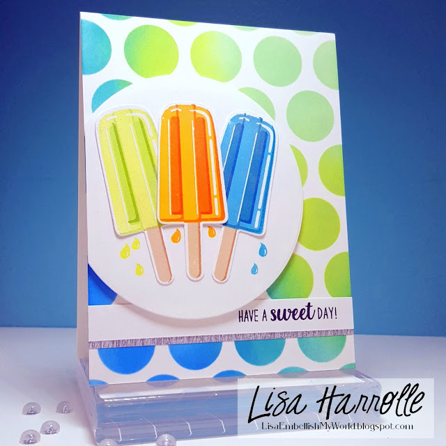 Sunny Studio Stamps: Perfect Popsicles Customer Card Share by Lisa Harrolle