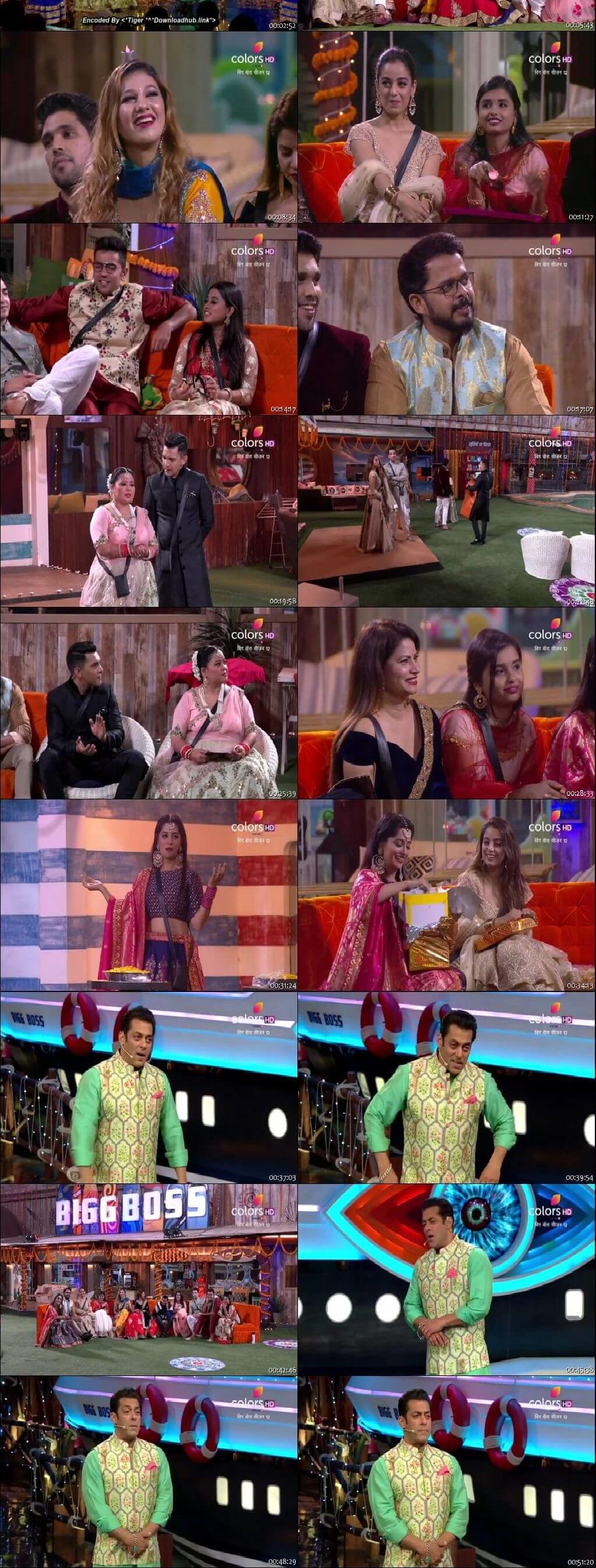 Screenshots Of Hindi Show Bigg Boss 12 4th November 2018 Episode 49 300MB 480P HD