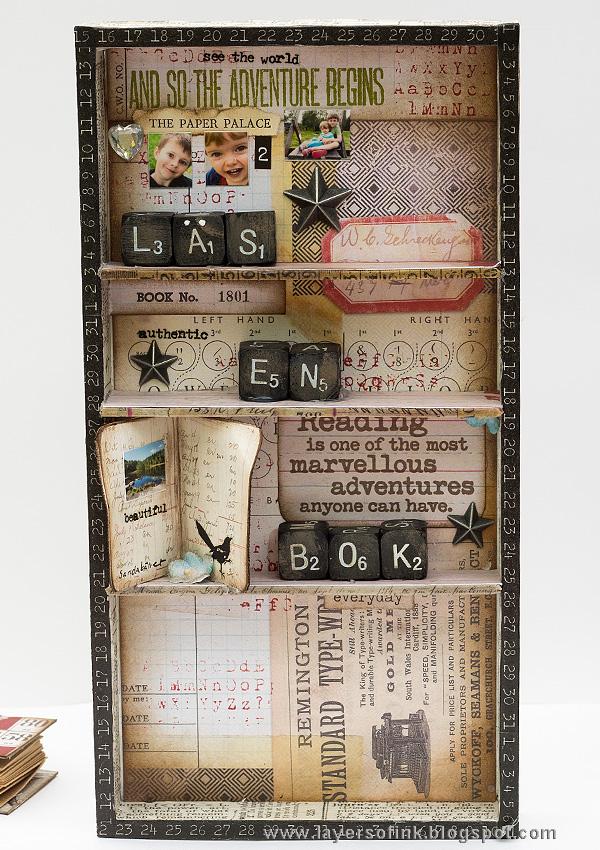 Layers of ink - Miniature Bookshelf with Handmade Books Tutorial by Anna-Karin