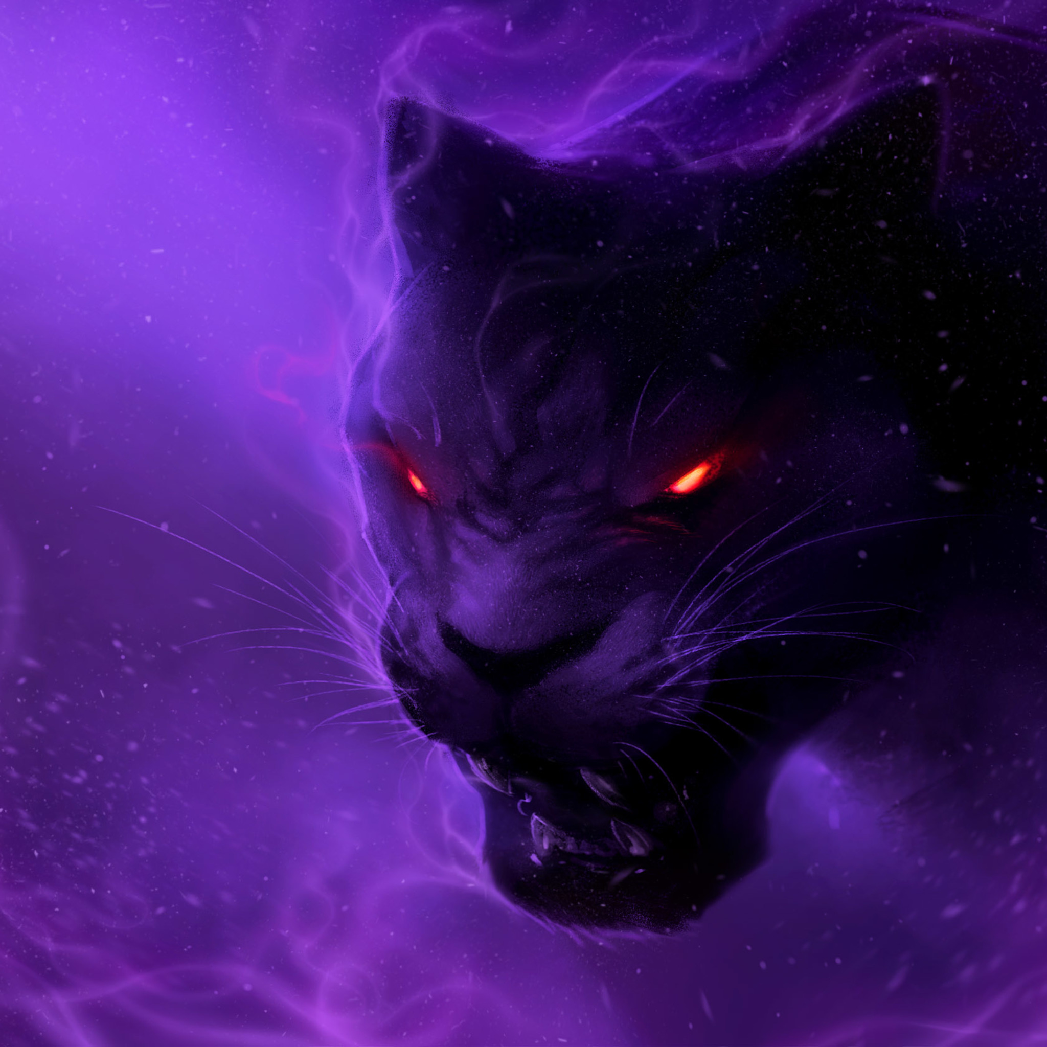 Black Panther Fantasy Wallpaper