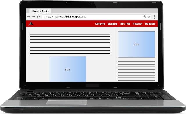 pasang iklan script adsense di template blog
