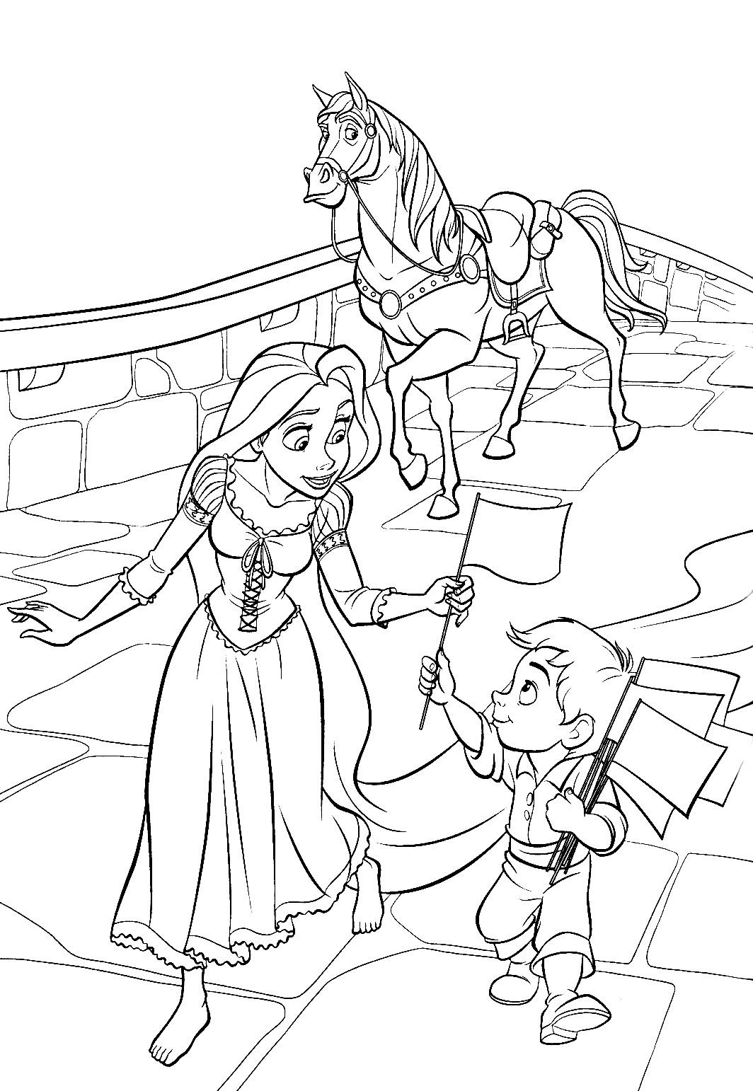 Desenhos De Enrolados Para Colorir Pintar Imprimir Rapunzel