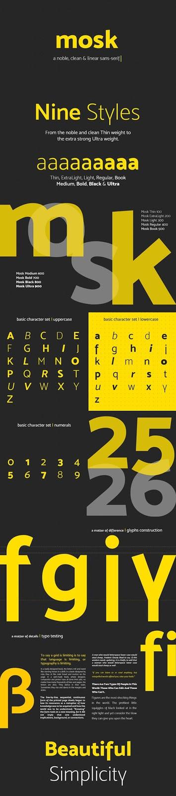 Download Gratis Sans Serif Komersial Font - Mosk Free Typeface