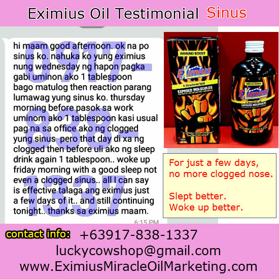 sinus cure treatment eximius oil