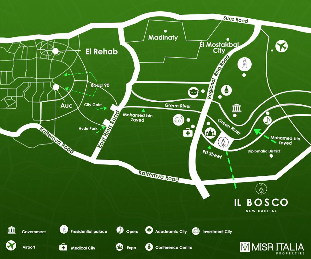 IL BOSCO The latest residential compound in the new capital of Egypt on