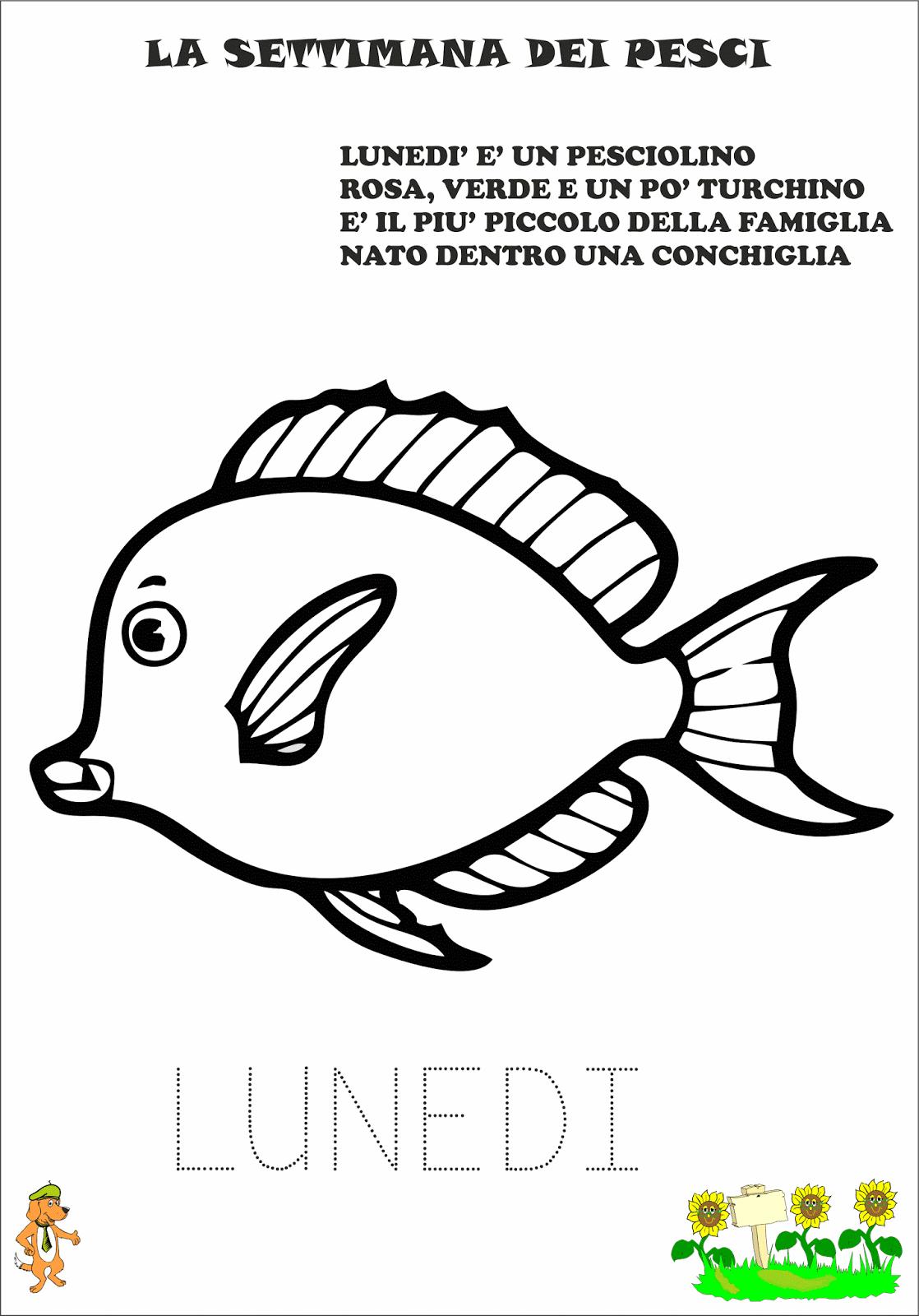 A scuola con poldo la settimana dei pesci for Pesci immagini da colorare