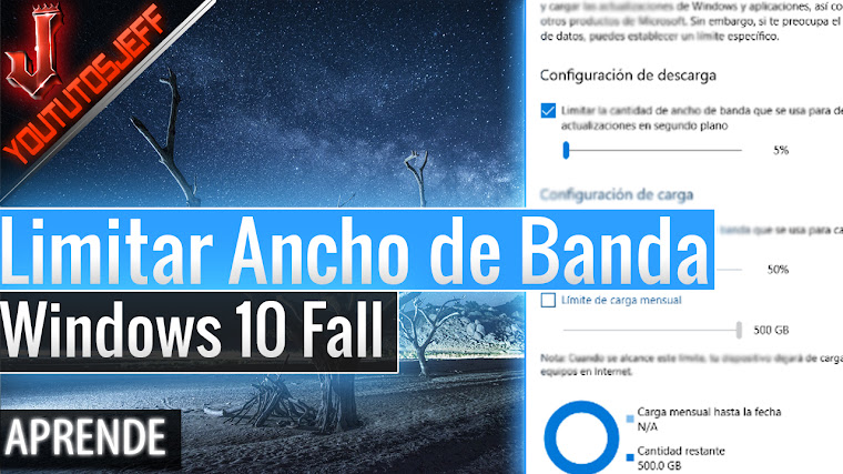 Como Limitar ancho de banda en la descarga de actualizaciones para Windows 10 Fall Creators Update