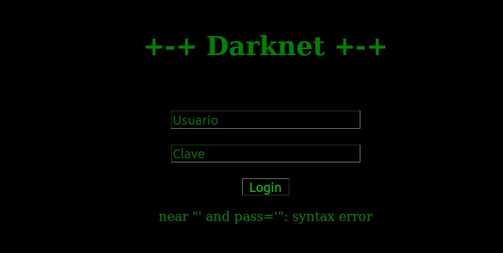 My journey through cyberspace: Darknet 1 0 Write-up