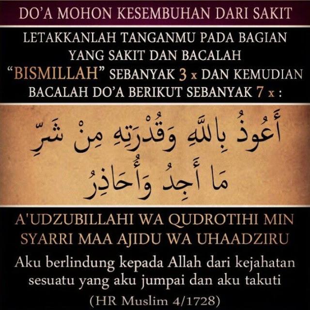 Doa Nabi Muhammad Sembuhkan Bagian Tubuh yang Sakit