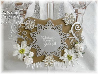 Our Daily Bread Designs Stamps - Snowflake Background, Snowflake Sentiments, Sparkling Snowflakes, Snowflakes Die