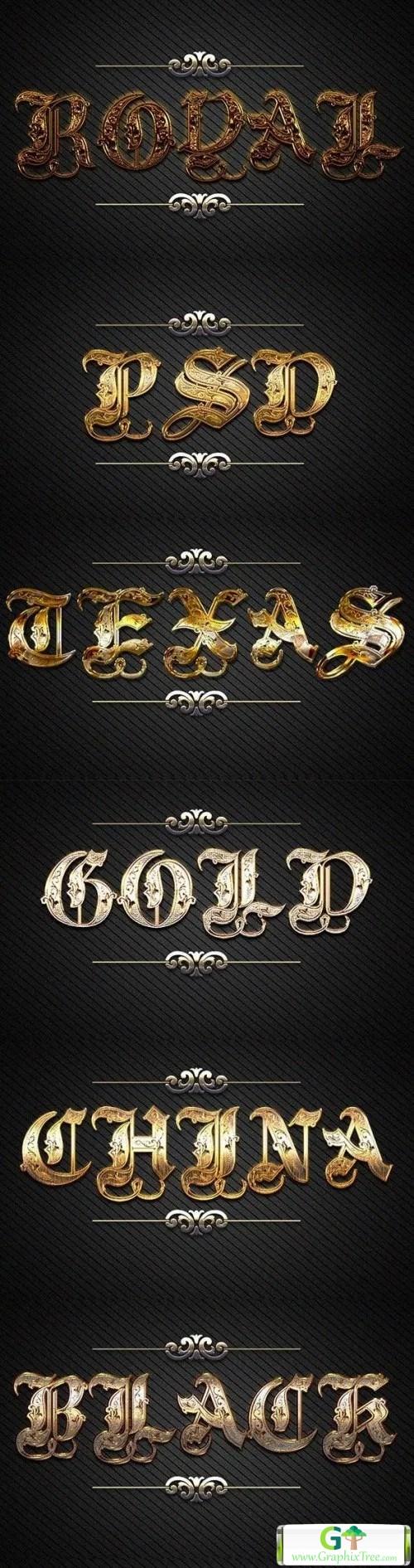 3D Gold Text 10 Styles D_47 21143260