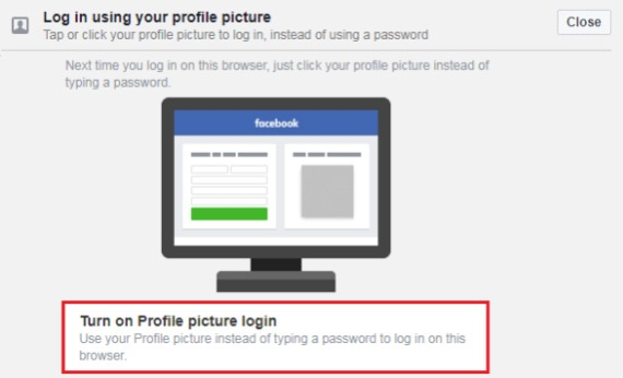 how to disable profile picture login in facebook