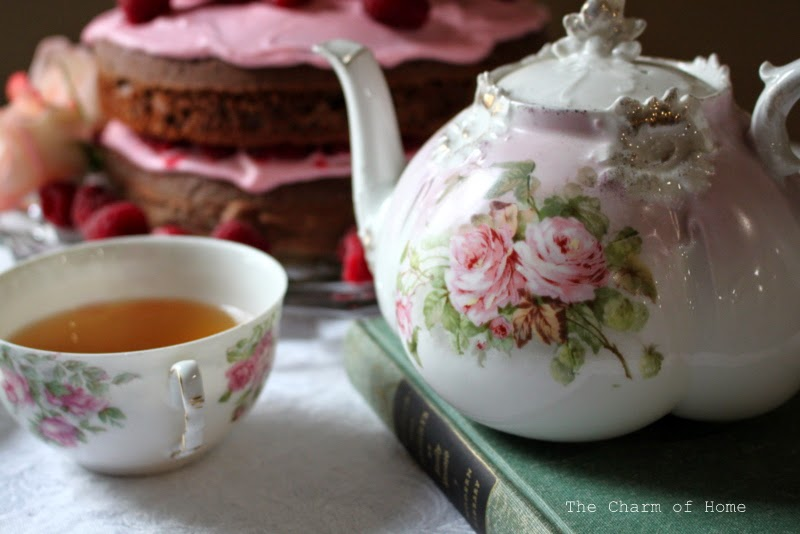 Raspberry & Roses Tea at The Charm of Home