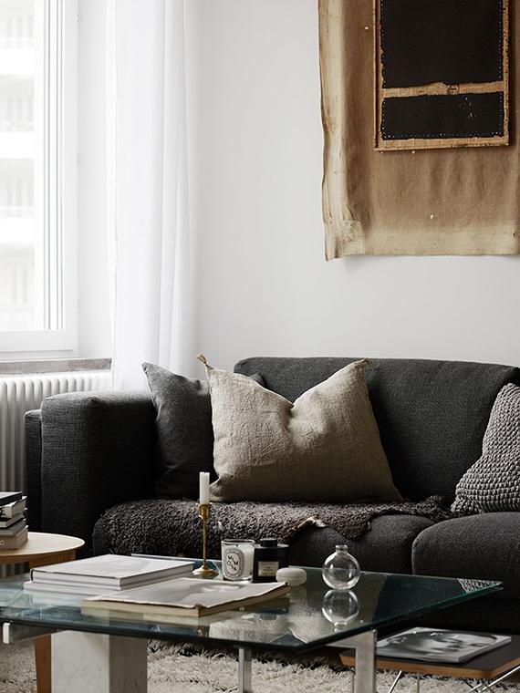 Scandinavian living room via Kristofer Johnsson