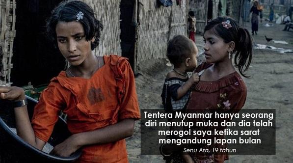(Video) Dirogol Tentera Myanmar Ketika Sarat Mengandung