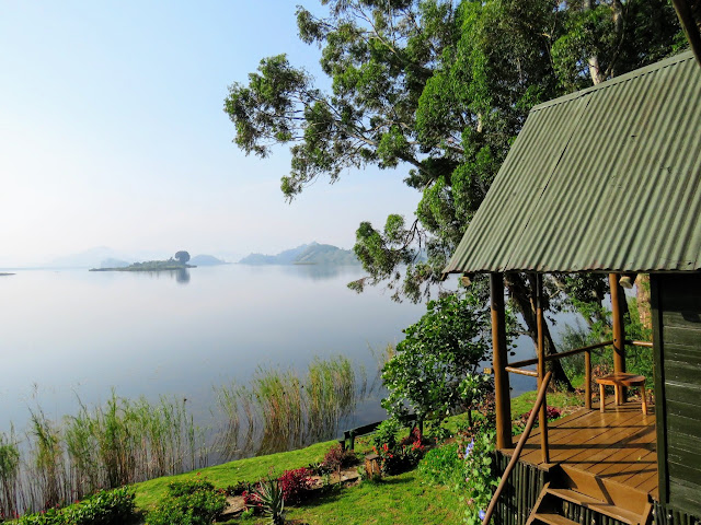 View from the Lake Mutanda Resort in Western Uganda