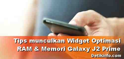 Widget Optimasi Sistem di HP Samsung J2 Prime
