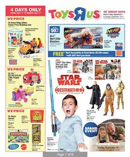 Toys R Us Flyer 10 Great Days! valid September 1 - 10, 2017