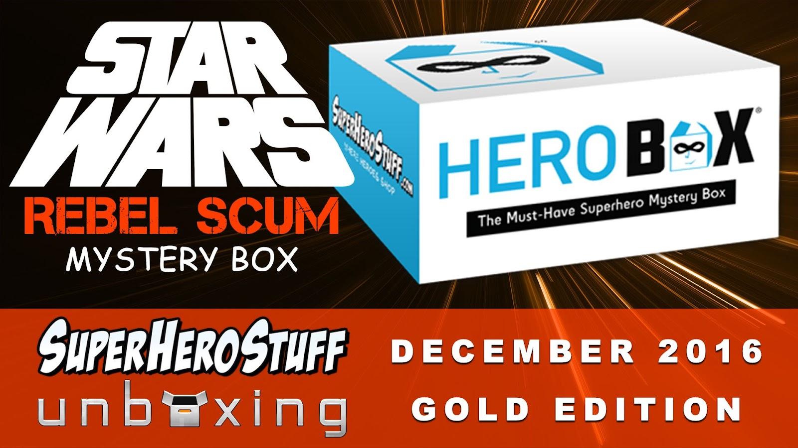 HeroBox Gold Edition Unboxing SuperHeroStuff