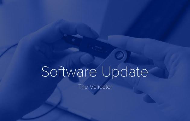 DasCoin - Cập nhật phần mềm mới trên The Validator