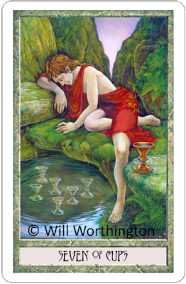Druidcraft Tarot Seven of Cups Will Worthington blog blogger
