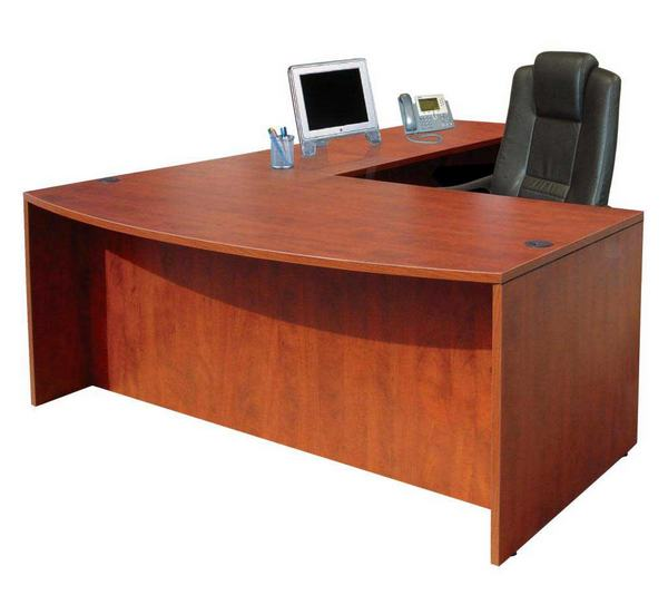 Mahogany Large Big L Shaped OFFICE Desk for Sale | Best Office
