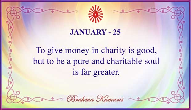 Thought For The Day January 25