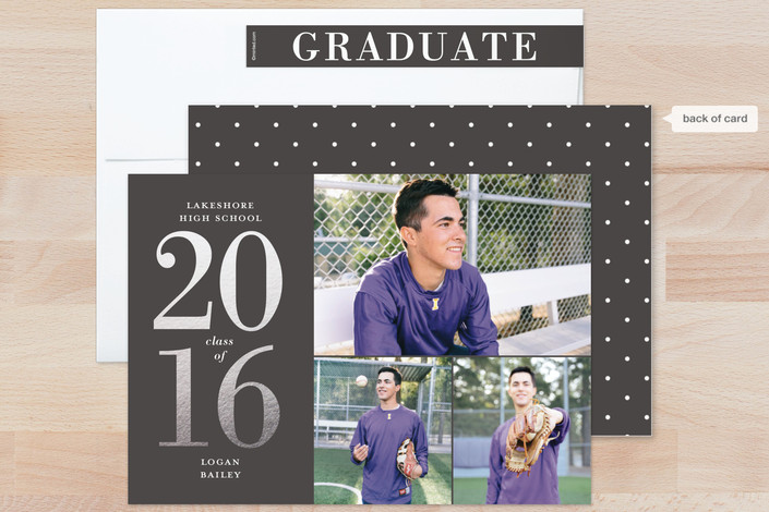 Minted foil graduation cards