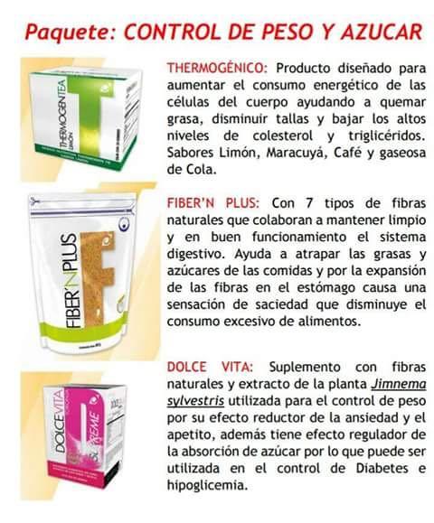 Paquete de productos Omnilife para Control de Peso y