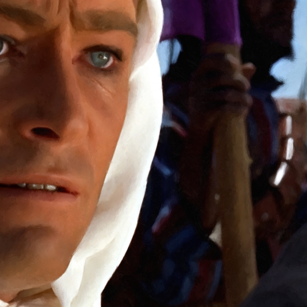 Lawrence Of Arabia David Lean: Peter O'Toole And Omar Sharif In The Film Lawrence Of