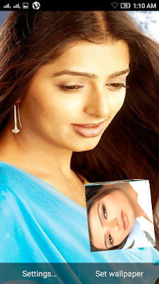 Bhoomika Chawla 3D live Wallpaper For Android Mobile Phone