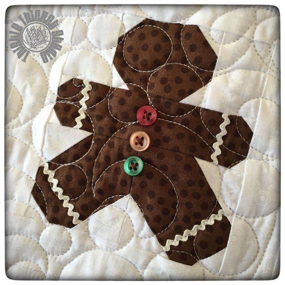 Quilting With Thistle Thicket Studio: Another Finish For The ... : gingerbread man quilt - Adamdwight.com