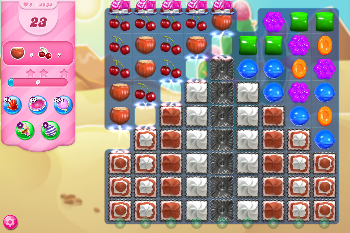Candy Crush Saga level 4834