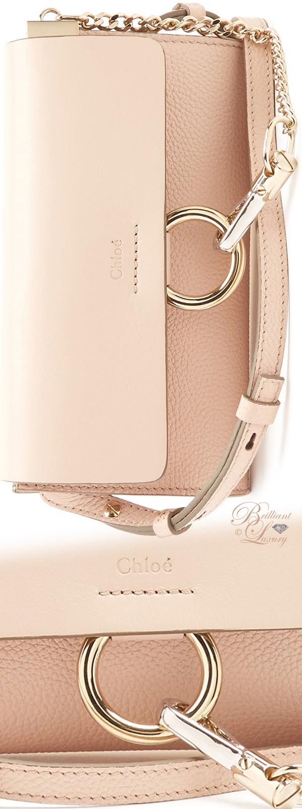 Brilliant Luxury ♦ Chloé Faye mini leather and suede cross-body bag