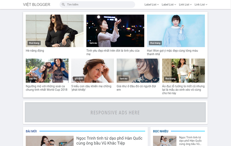 Việt Blogger Magazine Template