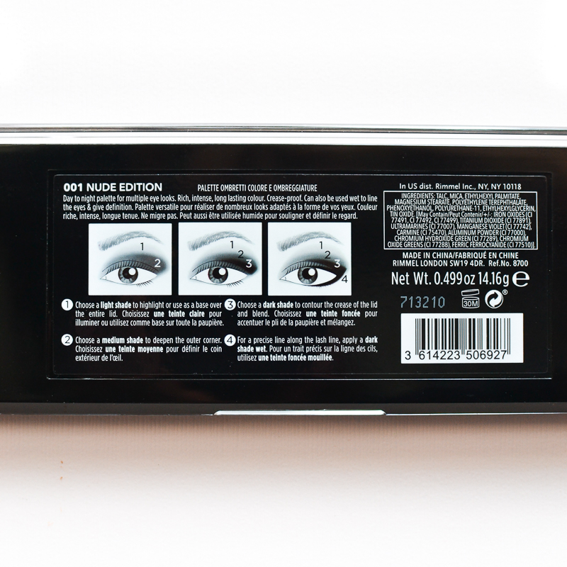 Rimmel Magnif'Eyes Nude Edition Eyeshadow Palette - How to Apply Use - Ingredients