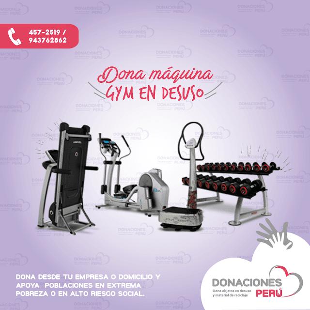 Dona maquina de GYM  - Dona Perú - Dona maquinas de gimnasio - Dona y reciclaje - recicla y dona