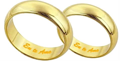 b16277600f6 Alianças com nome em cima Rei das Aliancas - alianças de casamento com nome  gravado em