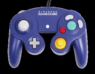 Control azul para jugar en la consola Nintendo GameCube