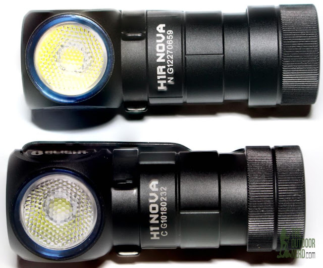Olight H1 and H1-R Nova Headlamps - Side By Side