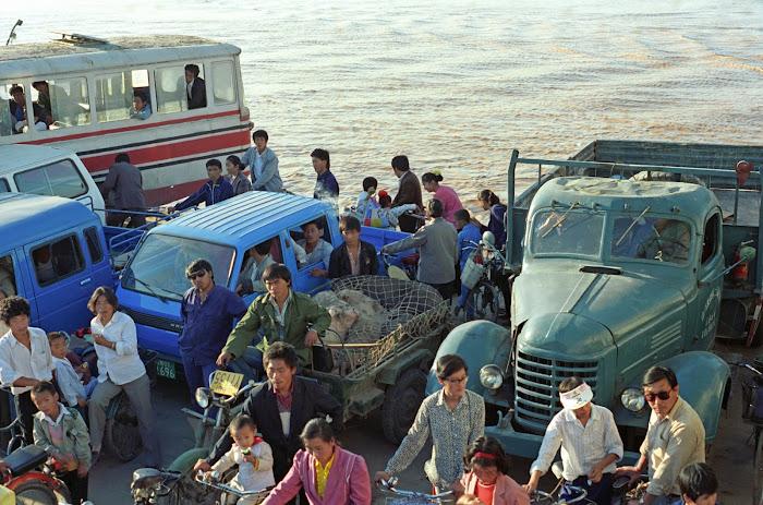 Jinan, Huang He, Fleuve jaune, marnes, © L. Gigout, 1990