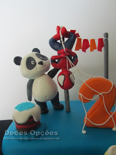 panda spiderman cake