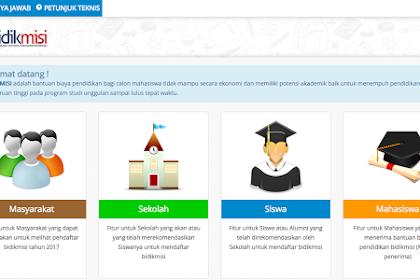 Pendaftaran Online Beasiswa Bidikmisi.Belmawa.Ristekdikti.go.id