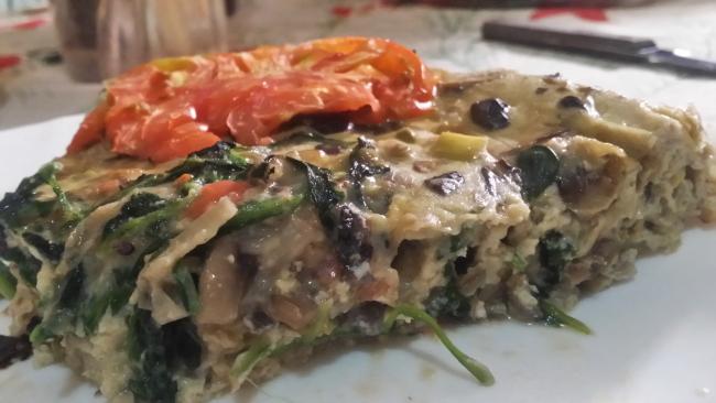 Tortilla italiana hecha al horno