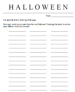 Need a quick, last minute Halloween printable for centers or another time in your classroom? Then you're going to LOVE this FREE download!