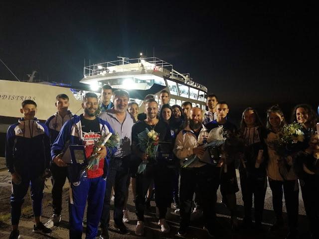 Ηγουμενίτσα: Υποδοχή Παγκόσμιων Πρωταθλητών Kickboxing