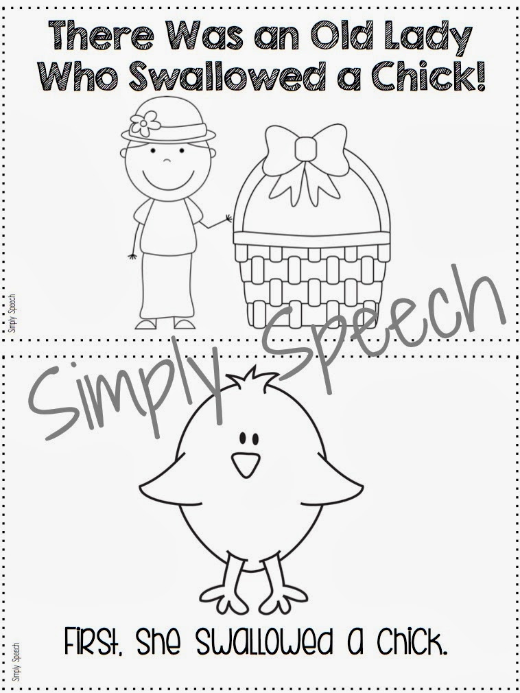 Simply Speech: There Wan an Old Lady Who Swallowed a Chick