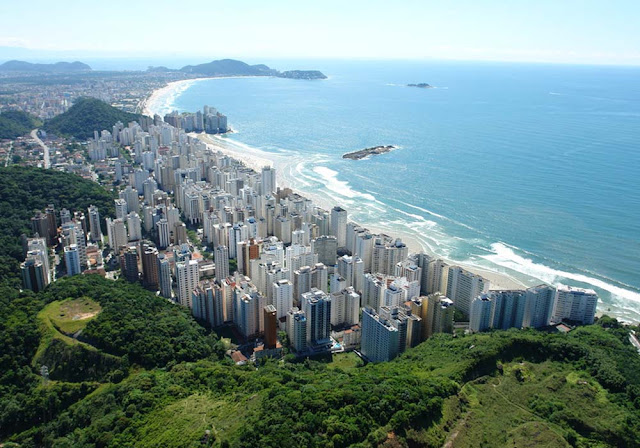 Vista aérea de Guarujá