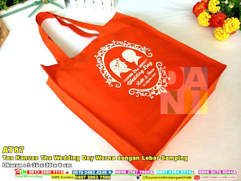Tas Kanvas The Wedding Day Warna Dengan Lebar Samping